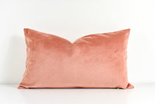 Velvet Lumbar Pillow - Clay