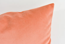 Velvet Lumbar Pillow - Dusty Peach