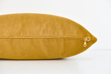 Velvet Lumbar Pillow - Golden Palm