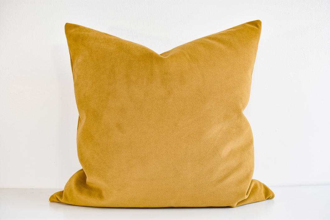 Velvet Pillow - Golden Palm