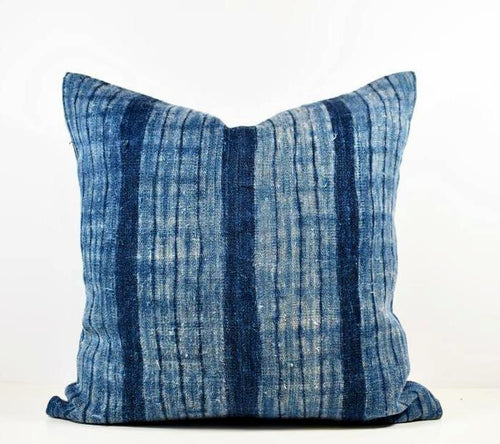 Vintage Hmong Indigo Hemp Pillow