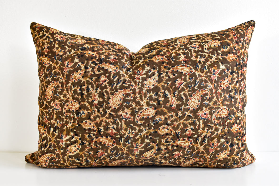 Indian Block Print Lumbar Pillow