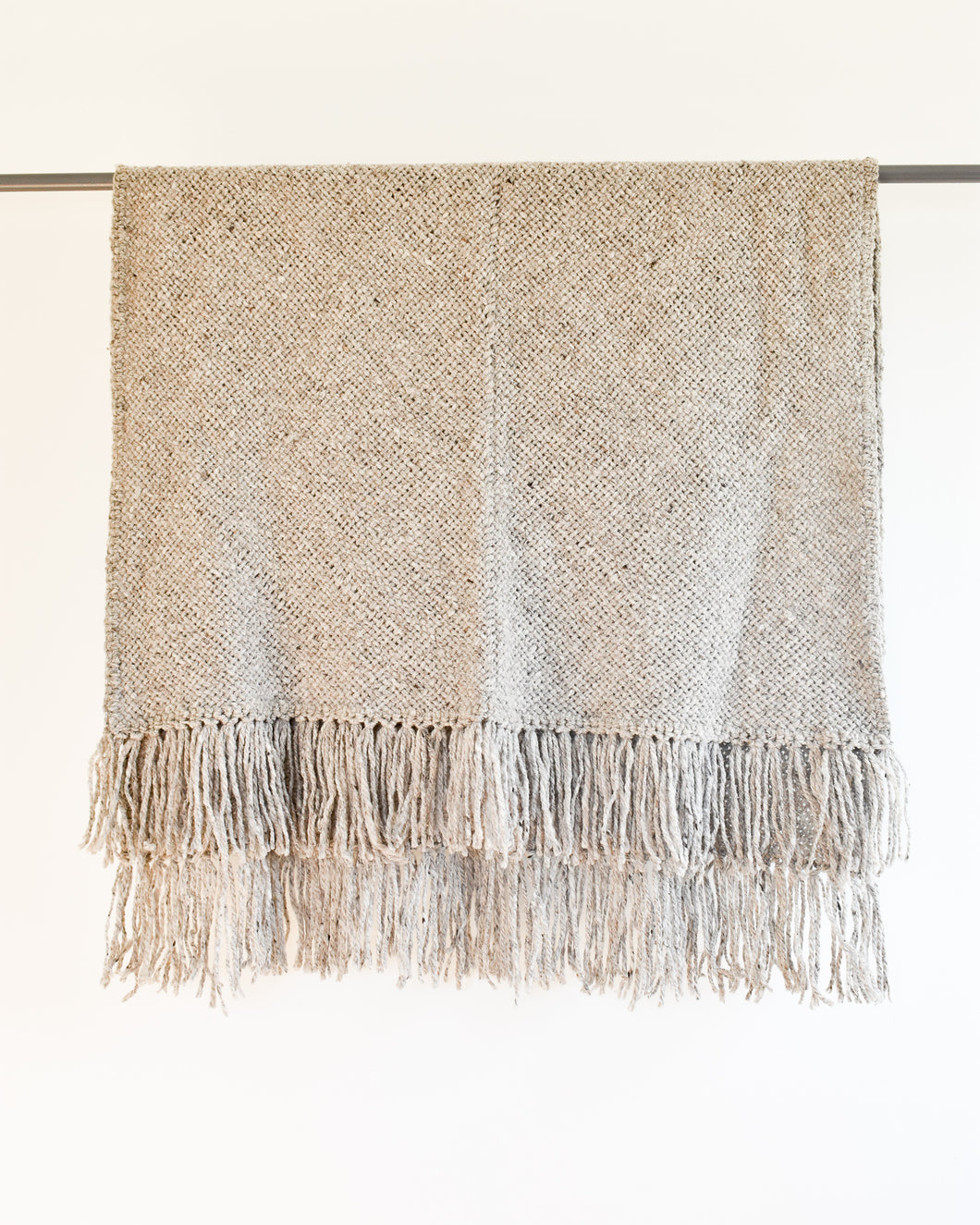 Frida Fringe Throw - Gray