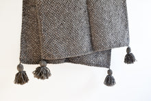 Tucu Tassel Throw - Charcoal