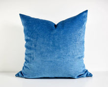 Velvet Pillow - Ocean Blue