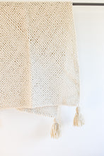 Tucu Tassel Throw - Cream