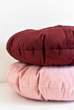 Velvet Round Pillow - Burgundy