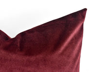 Velvet Pillow - Burgandy