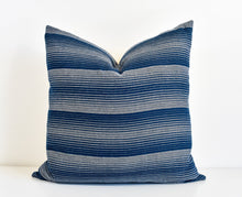 Hmong Organic Indigo Striped Pillow