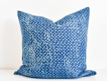 Hmong Block Print Pillow - Indigo