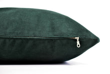 Velvet Lumbar Pillow - Hunter