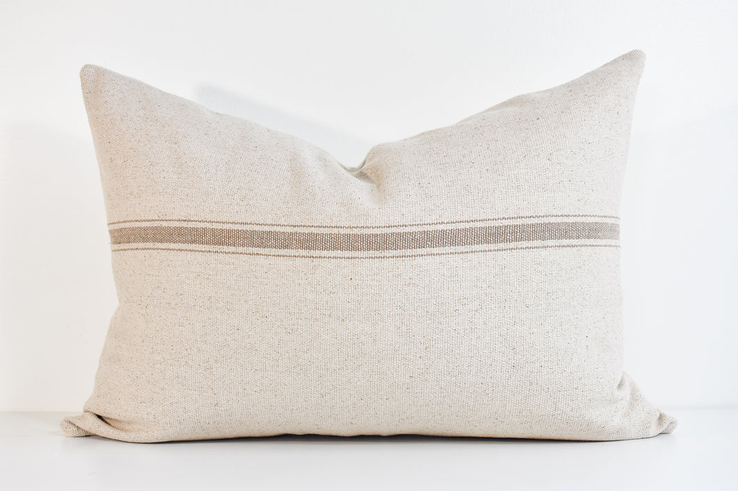 Grain Sack Lumbar Pillow - Earth