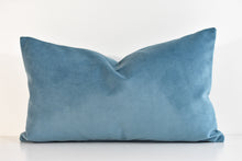 Velvet Lumbar Pillow - Ocean Tide
