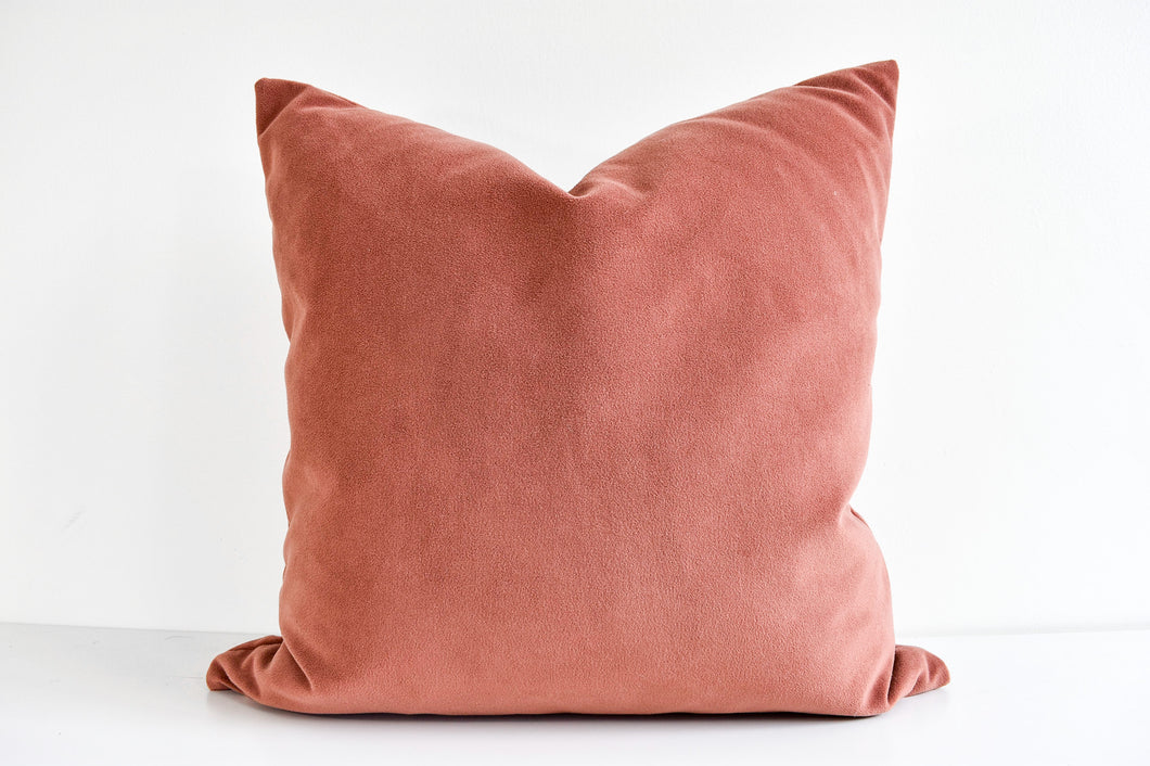 Velvet Pillow - Rosewood
