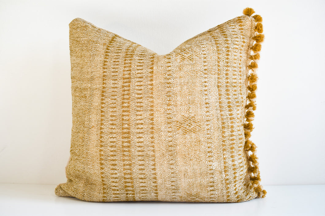 Indian Bhujodi Pillow - Ochre