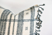Indian Bhujodi Pillow - Ivory and Gray