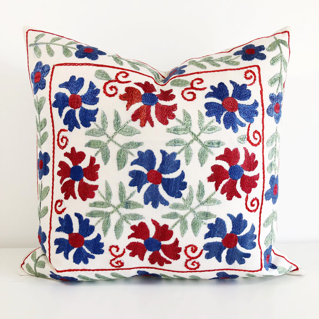 Vintage Turkish Suzani Pillow