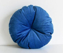 Velvet Round Pillow - Cobalt Blue