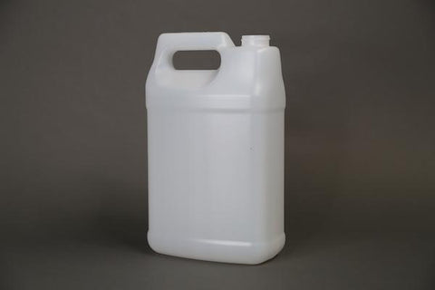 1 gallon F-Style Natural 38-400 Neck Bottle with Green Cap and Heat Induction Liner - 480 per pallet - Rock Bottom Bottles / Packaging Company LLC