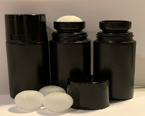 1 oz. Black HDPE Plastic Roll On Bottle (Not Refillable) Includes: Bottle, Cap and Ball - Cased 1400 - Rock Bottom Bottles / Packaging Company LLC
