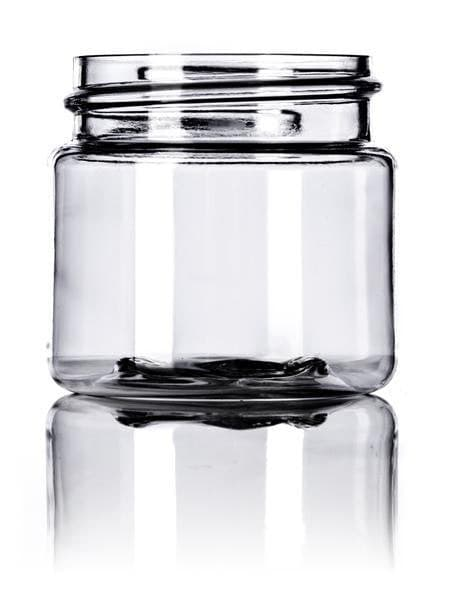 1 oz clear PET single wall jar with 38-400 neck finish CASED 1400 - Rock Bottom Bottles / Packaging Company LLC