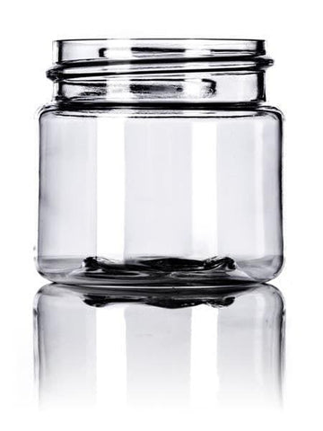 1 oz clear PET single wall jar with 38-400 neck finish-CASED 750 - Rock Bottom Bottles / Packaging Company LLC