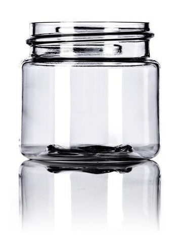 1 oz clear PET single wall jar with 38-400 neck finish -SINGLE -SPEC ORDER - Rock Bottom Bottles / Packaging Company LLC