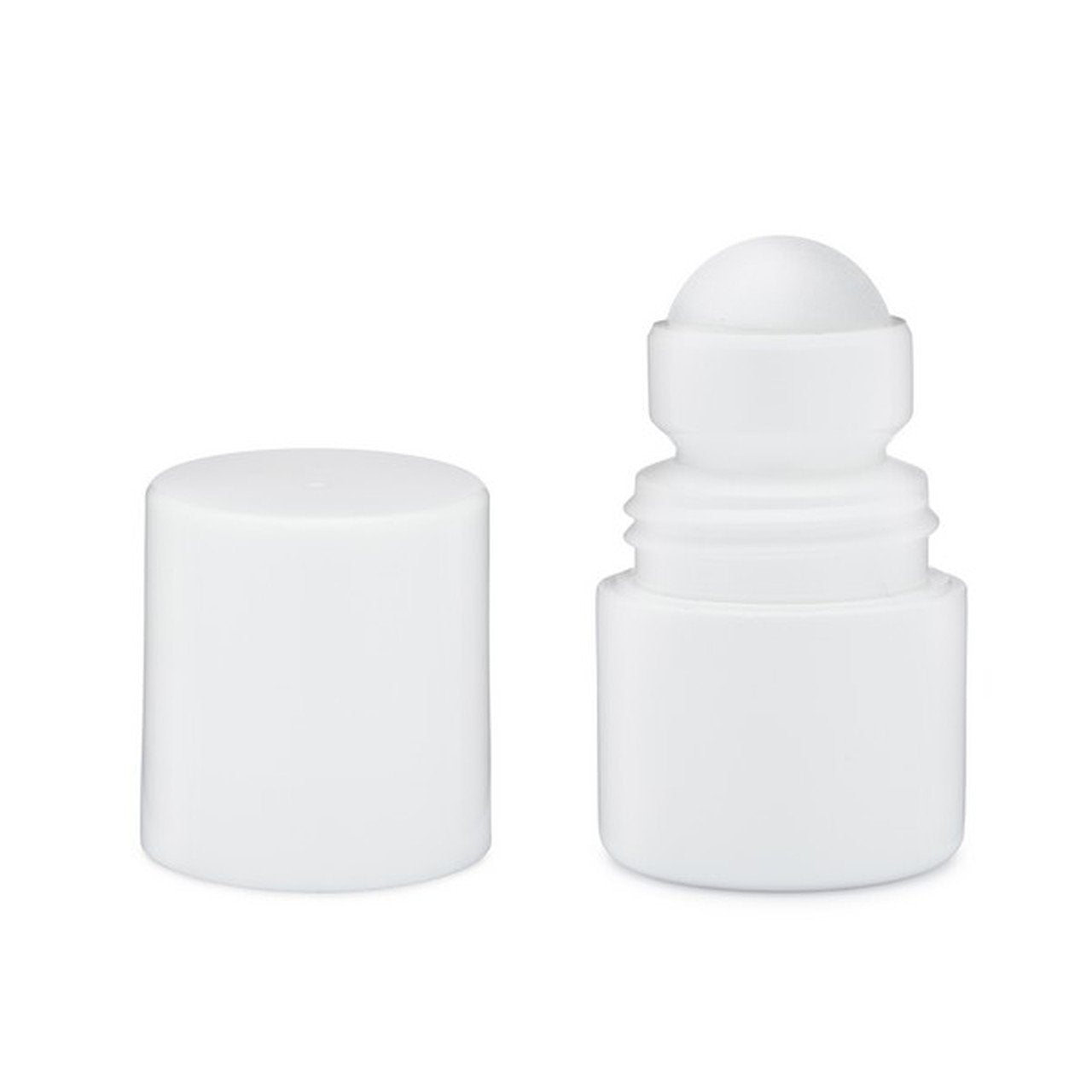 1 oz. White HDPE Plastic Roll On - Bottle Only - Cased 1400 - Rock Bottom Bottles / Packaging Company LLC