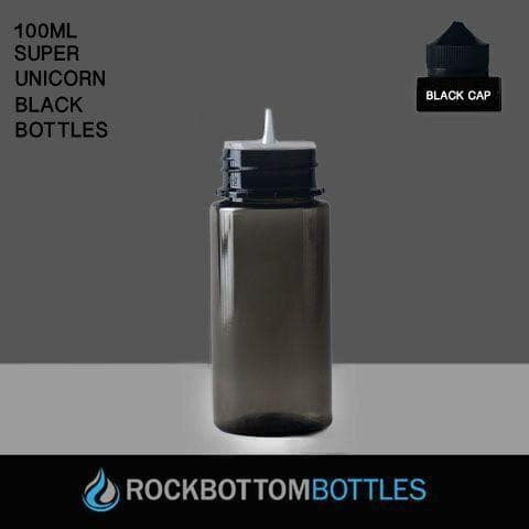 100ml Black Super Unicorns - Cased 396 - Rock Bottom Bottles / Packaging Company LLC