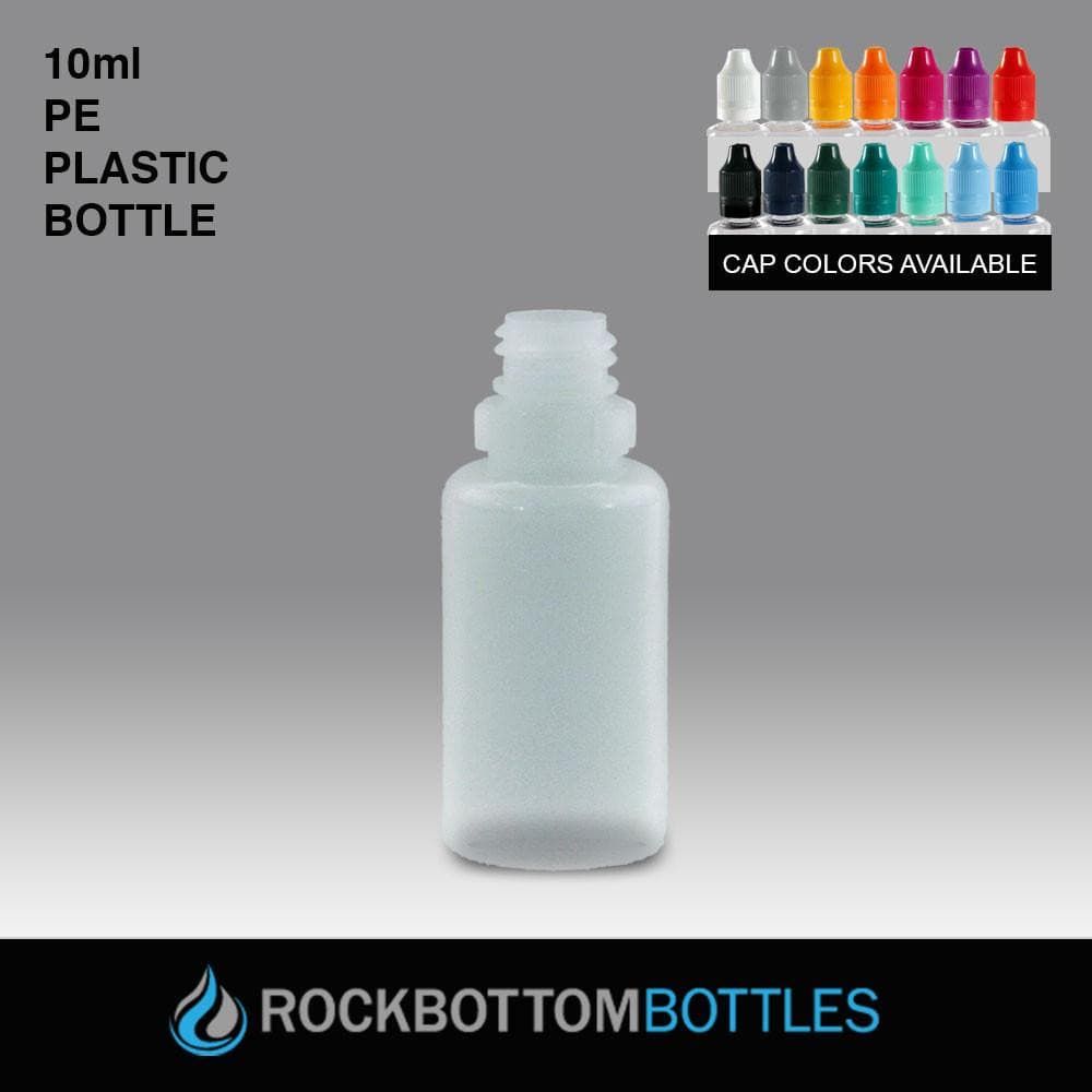 10mL - PE Plastic Bottle - Rock Bottom Bottles / Packaging Company LLC