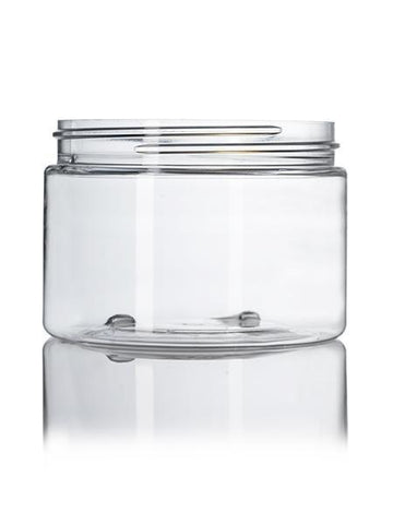 12 oz clear PET single wall jar with 89-400 neck finish - CASED 120 - Rock Bottom Bottles / Packaging Company LLC