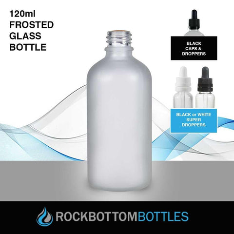 120ml Frosted Glass Bottle - Rock Bottom Bottles / Packaging Company LLC