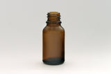 15ml Amber Glass Bottle 18-415 Neck (Bottle Only) - Cased 468 - Rock Bottom Bottles / Packaging Company LLC