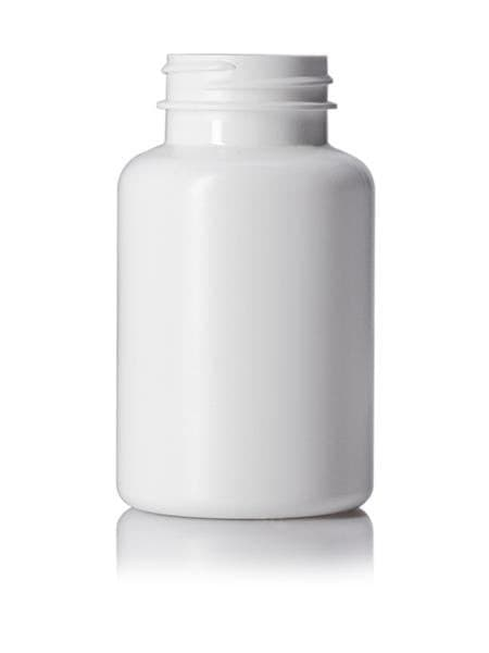 150 cc white HDPE pill packer bottle with 38-400 neck finish CASED 415 - Rock Bottom Bottles / Packaging Company LLC