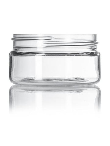 2 oz clear PET single wall jar with 58-400 neck finish - CASED 500 - Rock Bottom Bottles / Packaging Company LLC