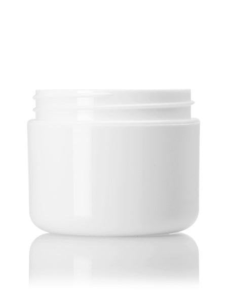 2 oz white PP double wall round base jar with 58-400 neck finish - CASED 384 - Rock Bottom Bottles / Packaging Company LLC
