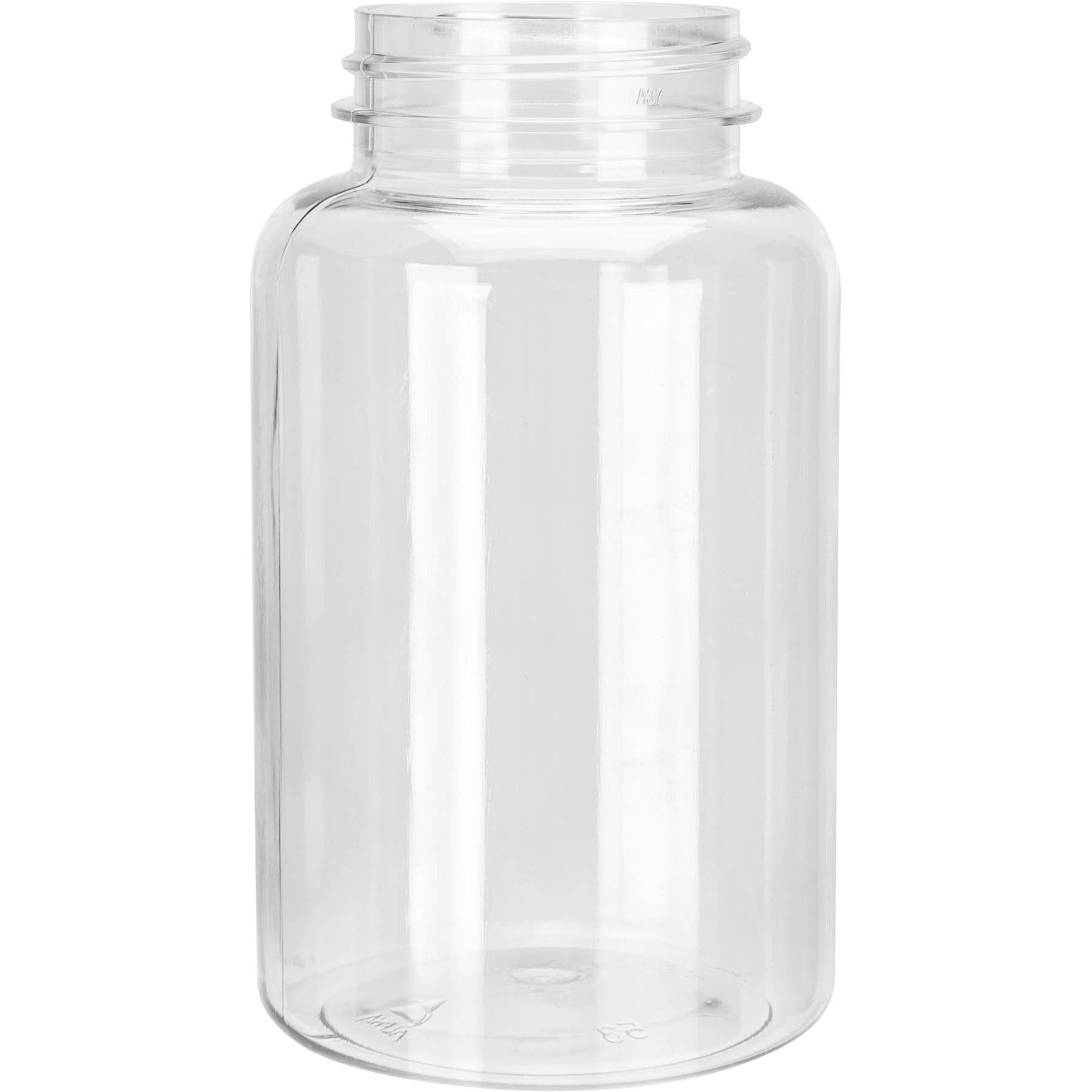 250cc Clear PET pill packer bottle with 45-400 neck finish CASED 300 - Rock Bottom Bottles / Packaging Company LLC