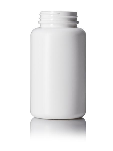 250cc white HDPE pill packer bottle with 45-400 neck finish CASED 270 - Rock Bottom Bottles / Packaging Company LLC