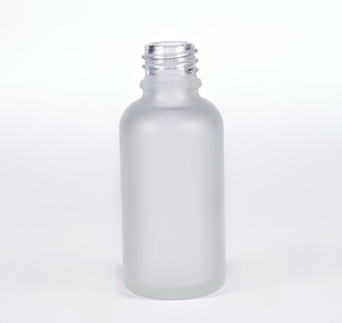 30ml Frosted Glass Bottle 18-415 neck - Cased 330 - Bottle Only - Rock Bottom Bottles / Packaging Company LLC