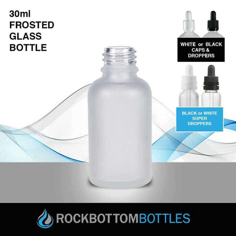 30ml Frosted Glass Bottle - Rock Bottom Bottles / Packaging Company LLC