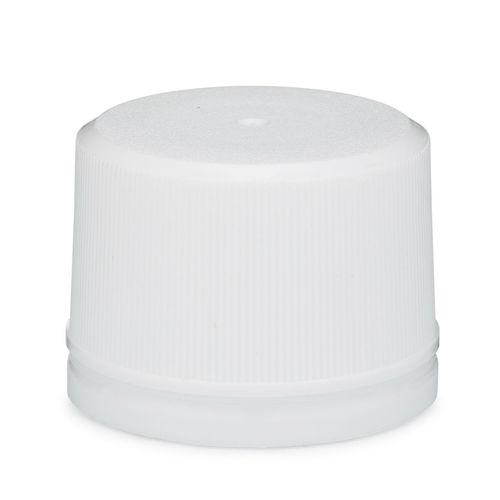 33mm White Polypropylene Tamper Evident Ribbed Cap packed 1200/carton - Rock Bottom Bottles / Packaging Company LLC