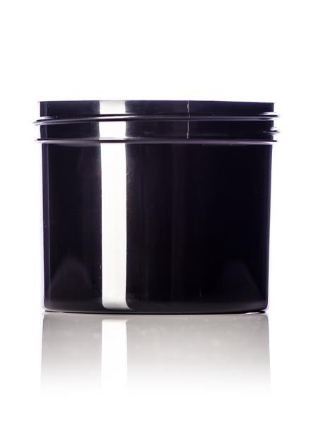 4 oz black PP single wall jar with 70-400 neck finish - CASED 560 - Rock Bottom Bottles / Packaging Company LLC
