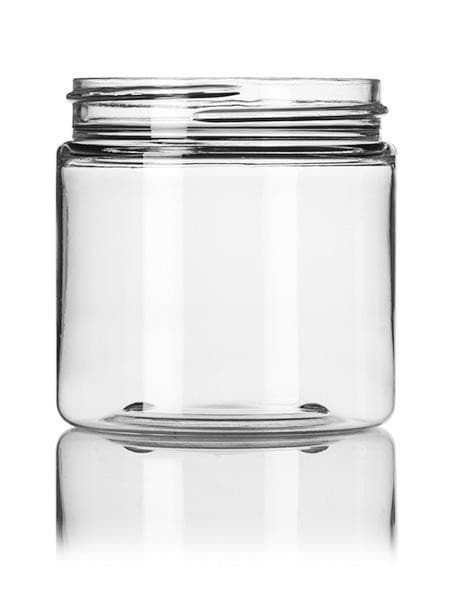 4 oz clear PET single wall jar with 58-400 neck finish- CASED 250 - Rock Bottom Bottles / Packaging Company LLC