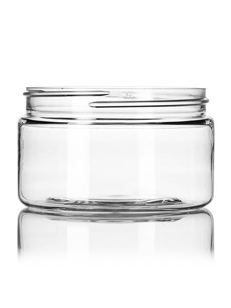 4 oz clear PET single wall jar with 70-400 neck finish- CASED 600 - Rock Bottom Bottles / Packaging Company LLC