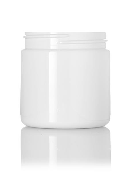 4 oz white PET single wall jar with 58-400 neck finish - CASED 250 - Rock Bottom Bottles / Packaging Company LLC