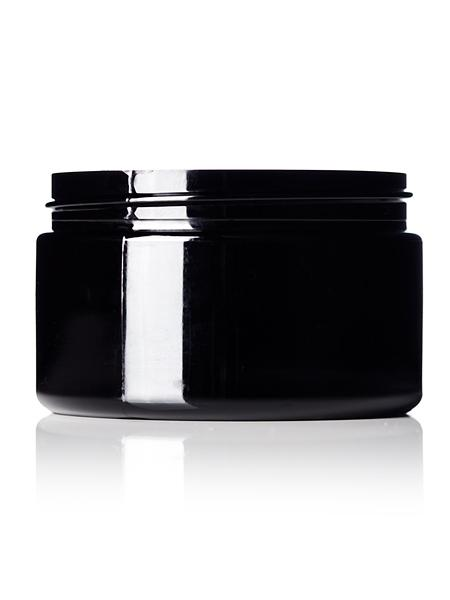 4oz Black 70-400 Single Wall PET Jar - CASED 320 - Rock Bottom Bottles / Packaging Company LLC