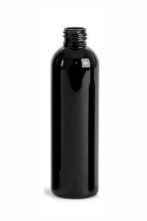 4oz Black PET Cosmo 20-410 Bottle -Cased 462 - Rock Bottom Bottles / Packaging Company LLC