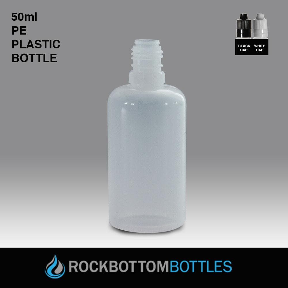 50mL - PE Plastic Bottle - Rock Bottom Bottles / Packaging Company LLC