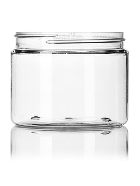 6 oz clear PET single wall jar with 70-400 neck finish CASED 400 - Rock Bottom Bottles / Packaging Company LLC