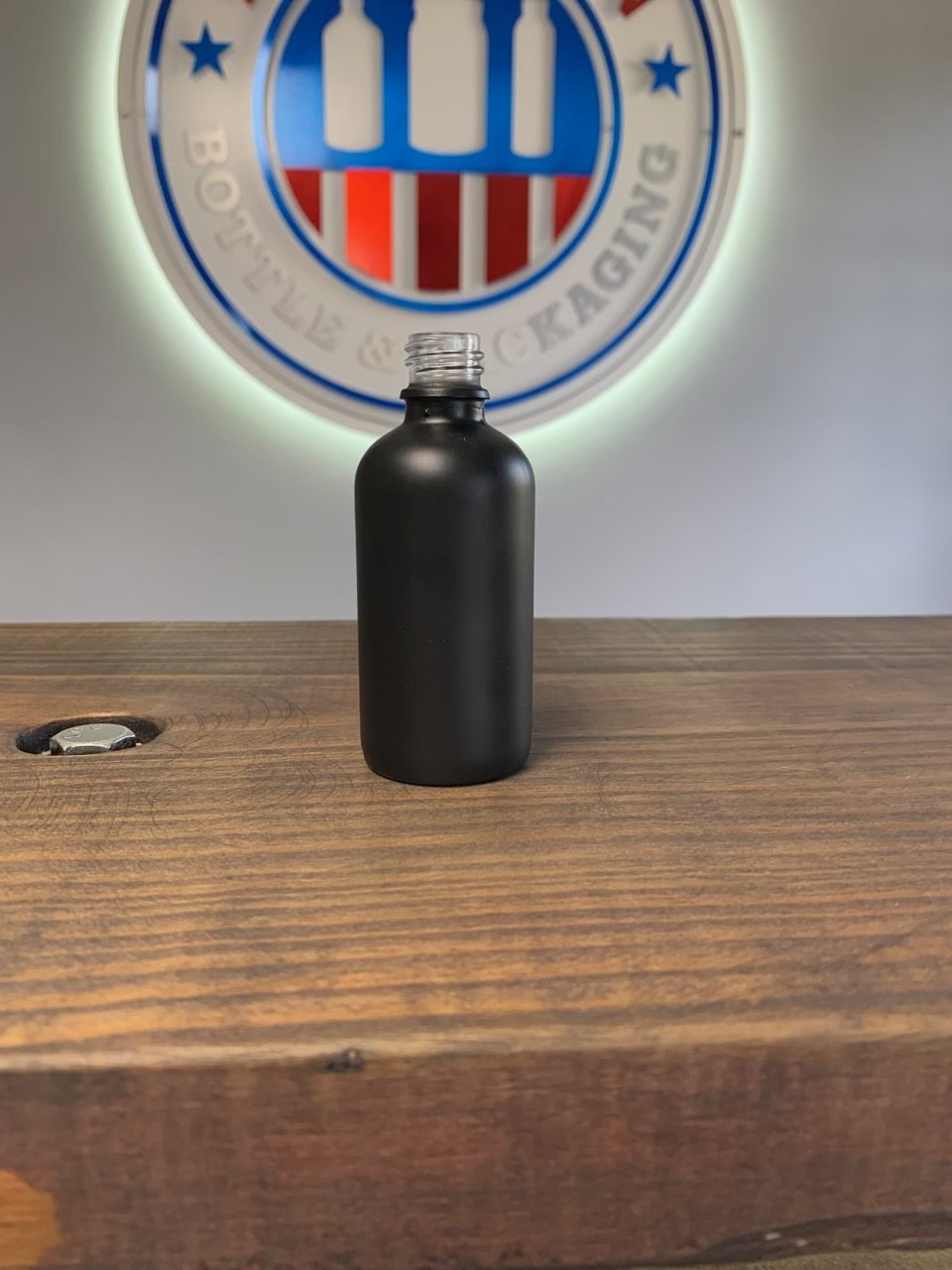 60ml 18-415 Matte Black Glass Bottle Cased 112 - Rock Bottom Bottles / Packaging Company LLC